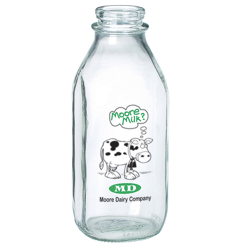 Glass Milk Bottle Quart