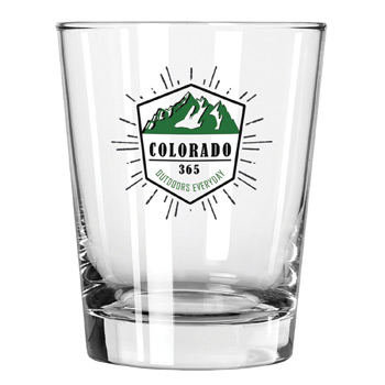 Clear Glass Double Old Fashioned Tumbler 15 oz.