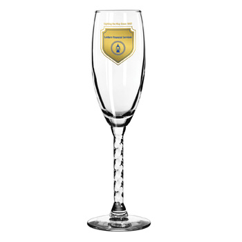 Clear Twist Stem Wine Glass 5 ¾ oz.