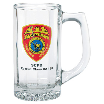 Clear Glass Optic Sports Stein 12 oz.