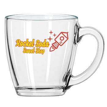 Clear Glass Bistro Mug
