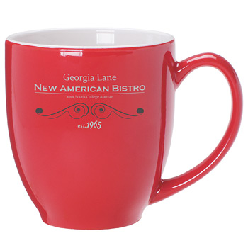 Bistro Mug 16 oz. Red Out/ White In