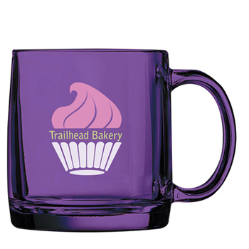 Cathedral Glass Mug Amethyst