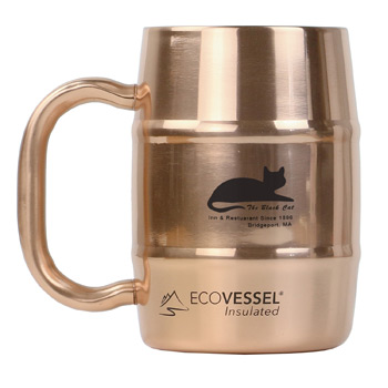 Double Barrel Mug 16 oz. Copper