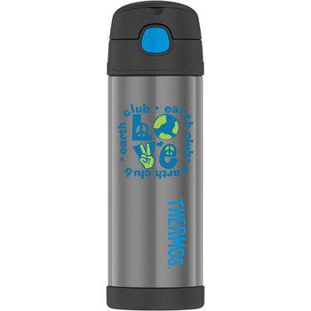 FUNtainer® Stainless Steel Water Bottle with Spout 16 oz.