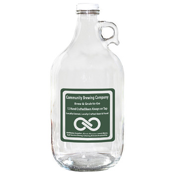 Glass Growler 64 oz. Clear