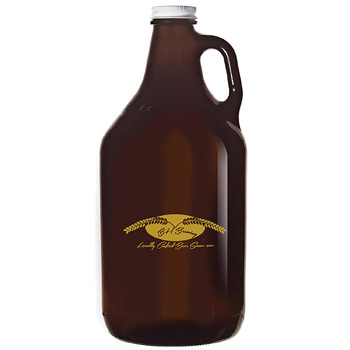 Glass Growler 64 oz. Amber