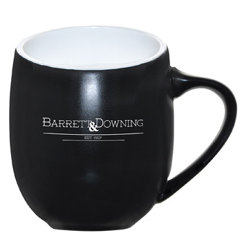 Offero® Ceramic Mug 16 oz. Black