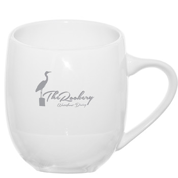 Offero® Ceramic Mug 16 oz. White