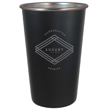 Stainless Steel Pint 16 oz. Matte Black